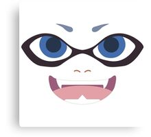 Inkling Face (blue) Canvas Print