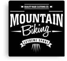 Mountain Biking Extreme Sport Graphic Art Canvas Print