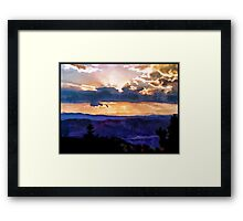 Colorado Sunset Framed Print
