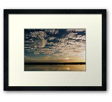 Coongie Dusk Framed Print