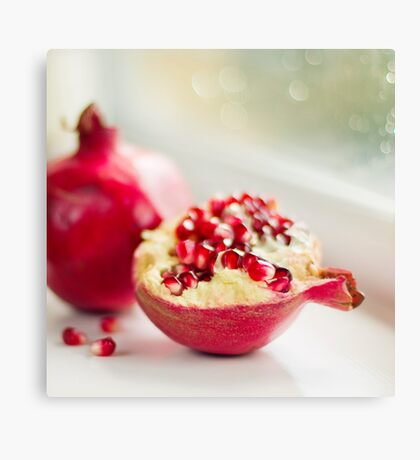 Powerful pomegranate Canvas Print