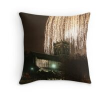 Fireworks over Paisley's Historic Abbey Throw Pillow