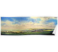 A view across the headlands of the Seven Sisters Poster