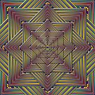 Phatpuppy Retro Texture Abstract Squares1.25 by Hugh Fathers