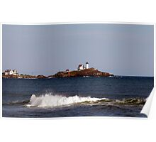 Coastal View of Nubble Lighthouse Poster