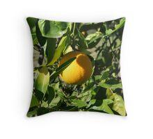 Lonely Orange Throw Pillow
