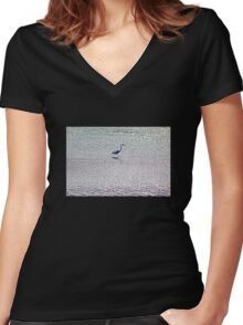 Water Walker Women's Fitted V-Neck T-Shirt