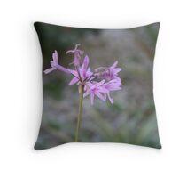 Little Lilac Flower Throw Pillow