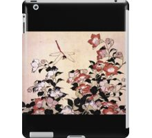 'Chinese Bell Flower and Dragonfly' by Katsushika Hokusai (Reproduction) iPad Case/Skin