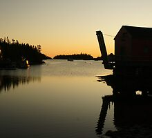 Boathouse sunrise by Jean Knowles