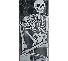skeleton wood cut Photographic Print