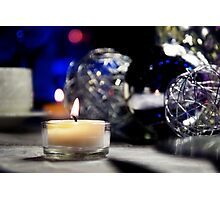 Silver Flames Holiday Greeting Card Photographic Print