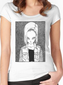Android 18 Women's Fitted Scoop T-Shirt