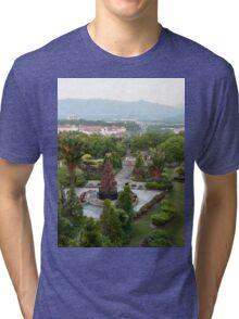 a large Malaysia landscape Tri-blend T-Shirt