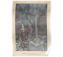 Shakespeare's Comedy of The Tempest - Art by Edmund Dulac - 1915 - 0167 - Prospero - Graves at my command Poster