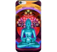 Blue Meditating Buddha iPhone Case/Skin