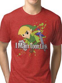 I Main Toon Link - Super Smash Bros. Tri-blend T-Shirt