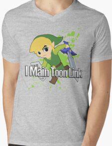 I Main Toon Link - Super Smash Bros. Mens V-Neck T-Shirt