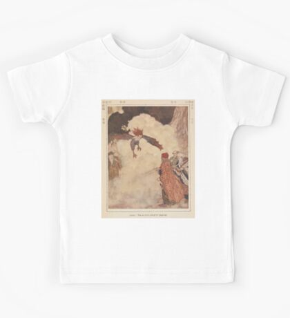 Shakespeare's Comedy of The Tempest - Art by Edmund Dulac - 1915 - 0105 - Ariel - You are three men of sin Kids Tee