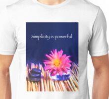 Simplicity Is Powerful Zen Rocks Dahlias Unisex T-Shirt