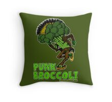 Punk Broccoli Throw Pillow
