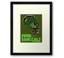 Punk Broccoli Framed Print