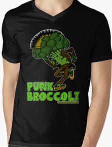 Punk Broccoli Mens V-Neck T-Shirt