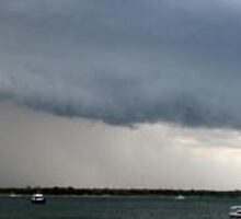 Gust front Over Pumicestone Passage, Bribie Island 29/11/2009 by Kate Lawrence