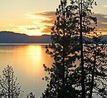 """Sunset On Lake Tahoe"" by Lynn Bawden"