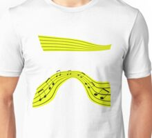yellow ribbon of musical notes Unisex T-Shirt
