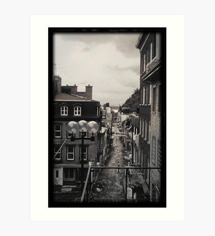 Quebec City circa 1980 Art Print