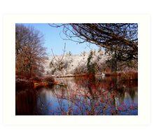 Winter Waterscape Art Print