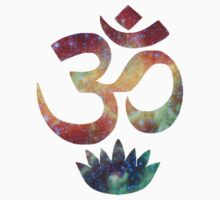 Buddhist Om and Lotus Flower by eleanorasch