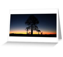 outback silhouettes Greeting Card