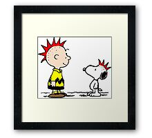 Snoopy & Charlie Brown Punk Framed Print