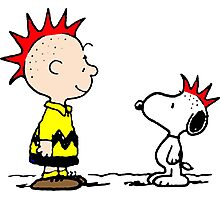 Snoopy & Charlie Brown Punk Photographic Print