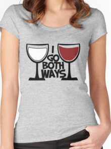 Red wine and white wine drinker Women's Fitted Scoop T-Shirt