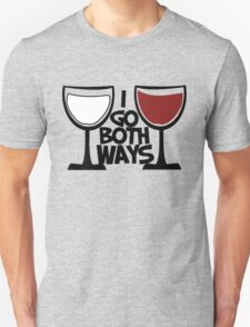 Red wine and white wine drinker Unisex T-Shirt