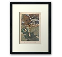 Shakespeare's Comedy of The Tempest - Art by Edmund Dulac - 1915 - 0137 - Iris - You Nymphs called Naiads Framed Print