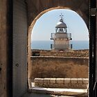 The light house Peniscola Spain by Paul Pasco