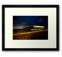 Lonely Dark Nights Ahead Framed Print