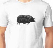 Black Vintage Pig Unisex T-Shirt