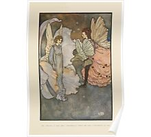 Fairies I Have Met - Rudolph Stawell - Art by Edmund Dulac - 1910 - 0045 - She Smiled at Home Very Graciously When he was Introduced to Her Poster