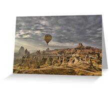 Hot Air Ballooning in Capadocia, Turkey Greeting Card