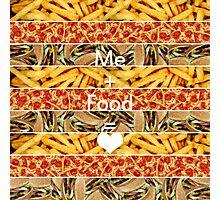 "Fast Food Equation ""Me+Food=<3"" Photographic Print"
