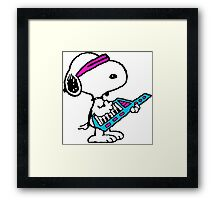 Keytar Snoopy Framed Print