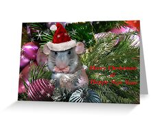 """"""" Merry Christmas From Hammy """" Greeting Card"""