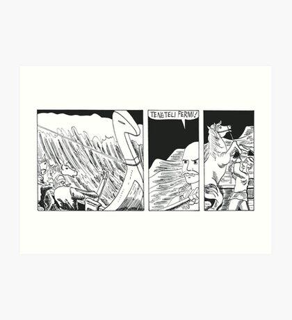 "VIKINGS ""ship in the storm"" Art Print"