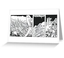 "VIKINGS ""ship in the storm"" Greeting Card"
