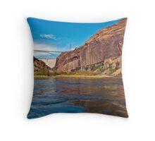 Glen Canyon dam and the Colorado Throw Pillow